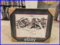 Framed Tom Brady New England Patriots Signed 16 x 20 6x Super Bowl Champ Photo