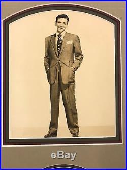 Frank Sinatra Signed Framed Album With Photo Autographed Signature JSA LOA