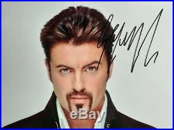 GEORGE MICHAEL Genuine 10x8 signed photo with coa Superb and ready for framing