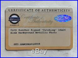 Gary Sanchez signed 16x20 photo framed Yankees coin autograph Steiner COA