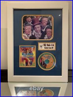 Gene Wilder Signed Framed 20 X 25 Willy Wonka DVD & Photo Display
