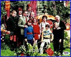 Gene Wilder / Willy Wonka Kids Signed Golden Ticket 8x10 Framed Collage PSA Auto