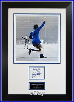 George Best Hand Signed Manchester United 1968 European Cup Framed Picture