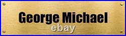 George Michael Hand Signed Framed & Mounted Photo Great Gift UAAC COA