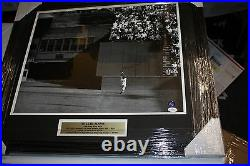 Giants Willie Mays Signed Framed 16x20 Photo The Catch Say Hey Jsa Certified