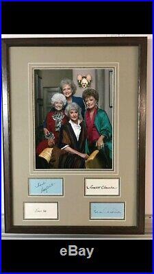 Golden Girls Signed Framed Picture Getty White Bea Arthur McClanahan JSA LOA COA