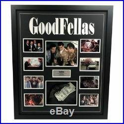 Goodfellas Hand Signed Framed Photo Gun De Niro Pesci Liotta Scarface Godfather
