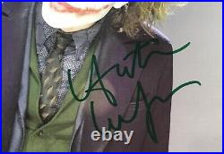 HEATH LEDGER CHRISTIAN BALE + ECKHART Signed Photos The Dark Knight FRAMED COA