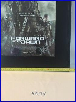 Halo 4 Movie Poster FRAMED and SIGNED Memorabilia