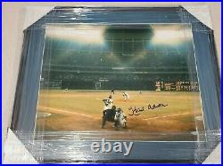 Hank Aaron 715 HR Signed Autographed 16x20 Framed Photo Steiner and PSA/DNA