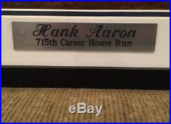 Hank Aaron Signed Framed SI 715th HR 16x20 Photo Atlanta Braves Steiner