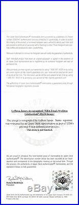 Heat LeBron James Authentic Signed Framed 20x24 Photo Autographed UDA #BAM13482