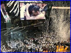Heat LeBron James Authentic Signed Framed 20x24 Photo Autographed UDA #BAM15056