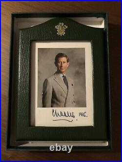 Hrh Charles The Prince Of Wales Hand Signed Photo In Royal Presentation Frame