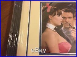 Hugh Hefner Playboy Magazine Signed Cut Photo Matted 18x22 Framed Jsa Coa Auto