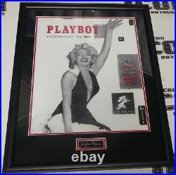 Hugh Hefner Signed Cut Framed with #1 1953 Playboy Magazine 16x20 Photo BAS COA