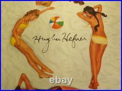 Hugh Hefner Signed Framed 16x20 ORIGINAL 1966 Playboy Cover & Photo Display