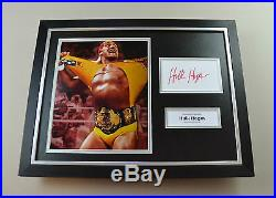 Hulk Hogan Signed Photo Framed 16x12 Wrestling Autograph Display Memorabilia COA