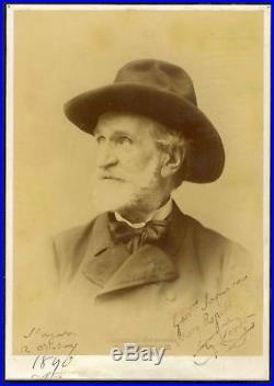 ITALIAN OPERA COMPOSER Giuseppe Verdi autograph, signed vintage photograph frame