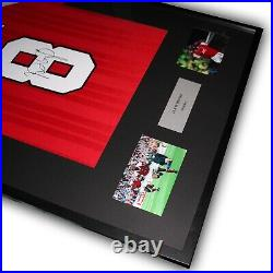 Ian Wright Signed Arsenal Shirt Framed COA Photo Proof Red Gunners Home M