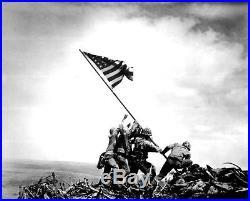 Iwo Jima Flag Raising Framed Photo Signed by Mahlon Fink M1 Garand Bullet Coa