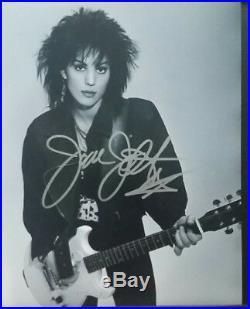 JOAN JETT Signed framed 8x10 autographed photo + VIP pass COA