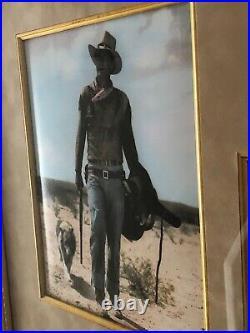 JOHN WAYNE- Autograph Signed & dated Museum Framed Western Display-PSA/DNA+ COA