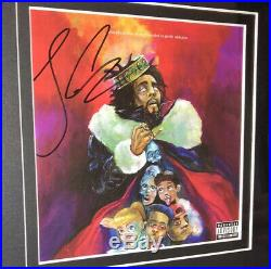J COLE SIGNED KOD CD ALBUM FRAMED AUTOGRAPH PHOTO (Kendrick Lamar Drake) JSA COA
