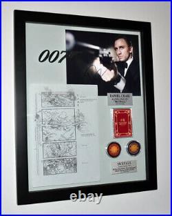 James Bond 007, DANIEL CRAIG Signed Autograph, SKYFALL STORYBOARD COA Frame UACC