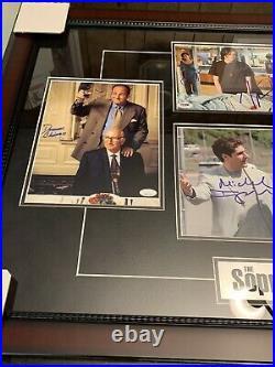James Gandolfini Autographed Signed Framed Photo Sopranos Cast Sirico ++++ JSA