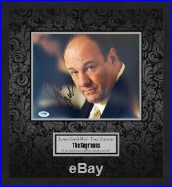 James Gandolfini Signed Sopranos Photo Custom Framed Display FREE SHIP PSA COAS