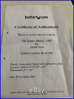 Jamie reid signed Sex Pistols God Save The Queen Framed Picture