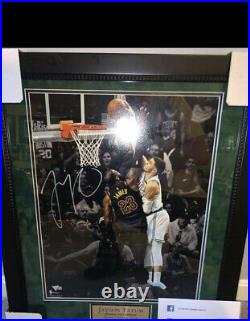 Jayson Tatum Signed 16x20 Custom Framed Photo Dunks Over Lebron COA