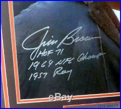Jim Brown Authentic Autographed Signed Framed 16x20 Photo Browns Psa/dna 146661