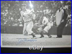 Joe DiMaggio Signed Framed Sepia Tone 11x14 Photo PSA/DNA Yankees