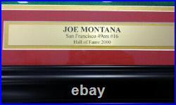 Joe Montana Autographed Signed Framed 16x20 Photo 49ers Super Bowl Uda 90862