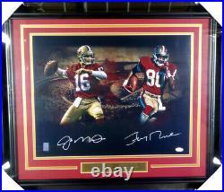 Joe Montana & Jerry Rice Autographed Signed Framed 16x20 Photo 49ers Jsa 146663