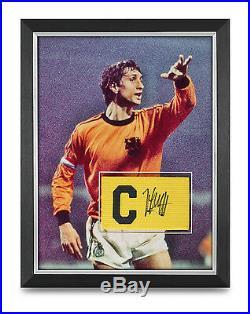 Johan Cruyff Signed Armband Photo Framed 16x12 Holland Autograph Memorabilia COA