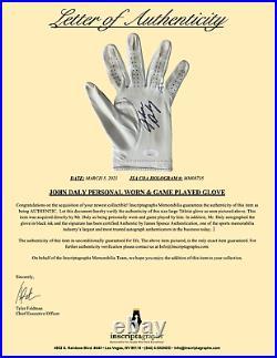 John Daly Signed & Game Played / Worn Golf Glove Framed JSA COA Photo Autograph