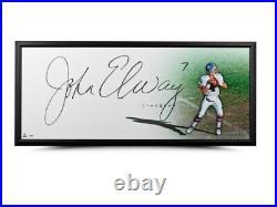 John Elway Signed Autographed 20X46 Framed Photo The Show Broncos Huge Auto UDA