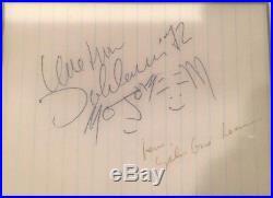 John Lennon Yoko Ono signed autographed sketch framed photo GUARANTEED