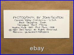 John Sexton, Rock Shoreline, 1998, 20x24 silver-gelatine original framed print