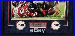 Julian Edelman Patriots Signed Autograph Custom Framed 26x28 Photo Jsa Witnessed