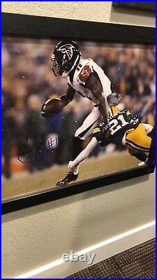 Julio Jones Autograph Auto Signed Jsa Coa Framed 16x20 Atlanta Falcons Nfl