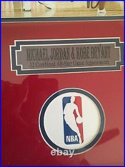 KOBE BRYANT & MICHAEL JORDAN SIGNED 8X10 FRAMED & MATTED ALL STAR PHOTO WithCOA