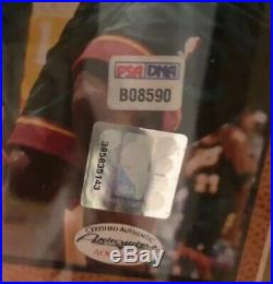 KOBE BRYANT SIGNED 16x20 PHOTO & CUSTOM LA LAKERS FRAME COA- PSA/DNA COA #B08590