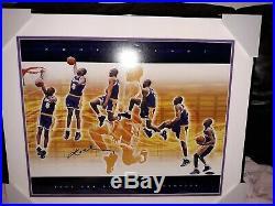 KOBE BRYANT SIGNED MULTI EXPOSURE 1997 NBA SLAM DUNK CHAMP 20 x 24 FRAMED UDA