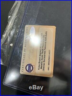 KOBE BRYANT Signed 16x20 Framed Metallic Photo Panini Steiner COA Limited 5/24