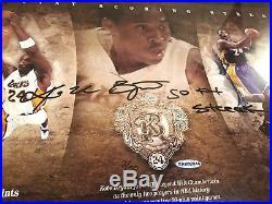 KOBE BRYANT Signed Autographed Framed Photo Inscribed 50 Pt Streak UDA #d 8/50