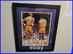 Kareem-Abdul Jabbar & Magic Johnson Lakers Dual Signed/Framed SMC